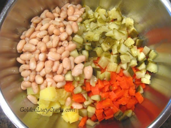Venigret, Ukrainian venigret, Russian beet potato salad