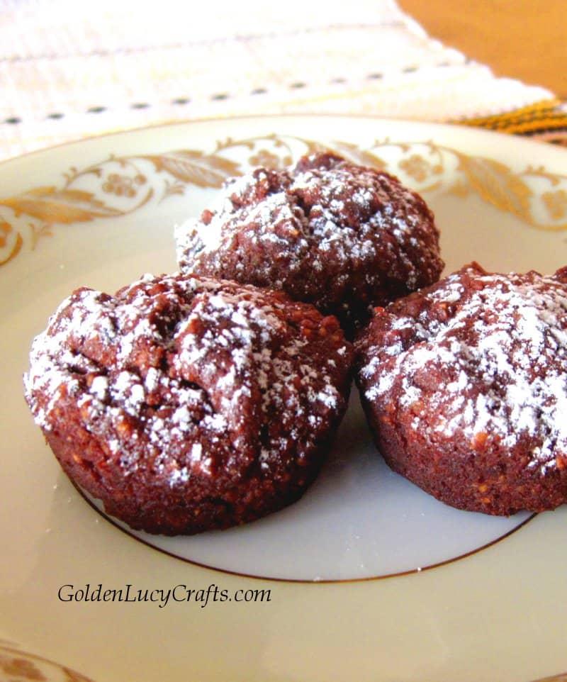 Almond flour chocolate mini muffins