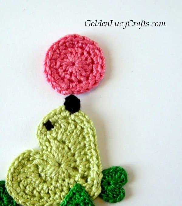 Crochet seal applique, crochet sea lion