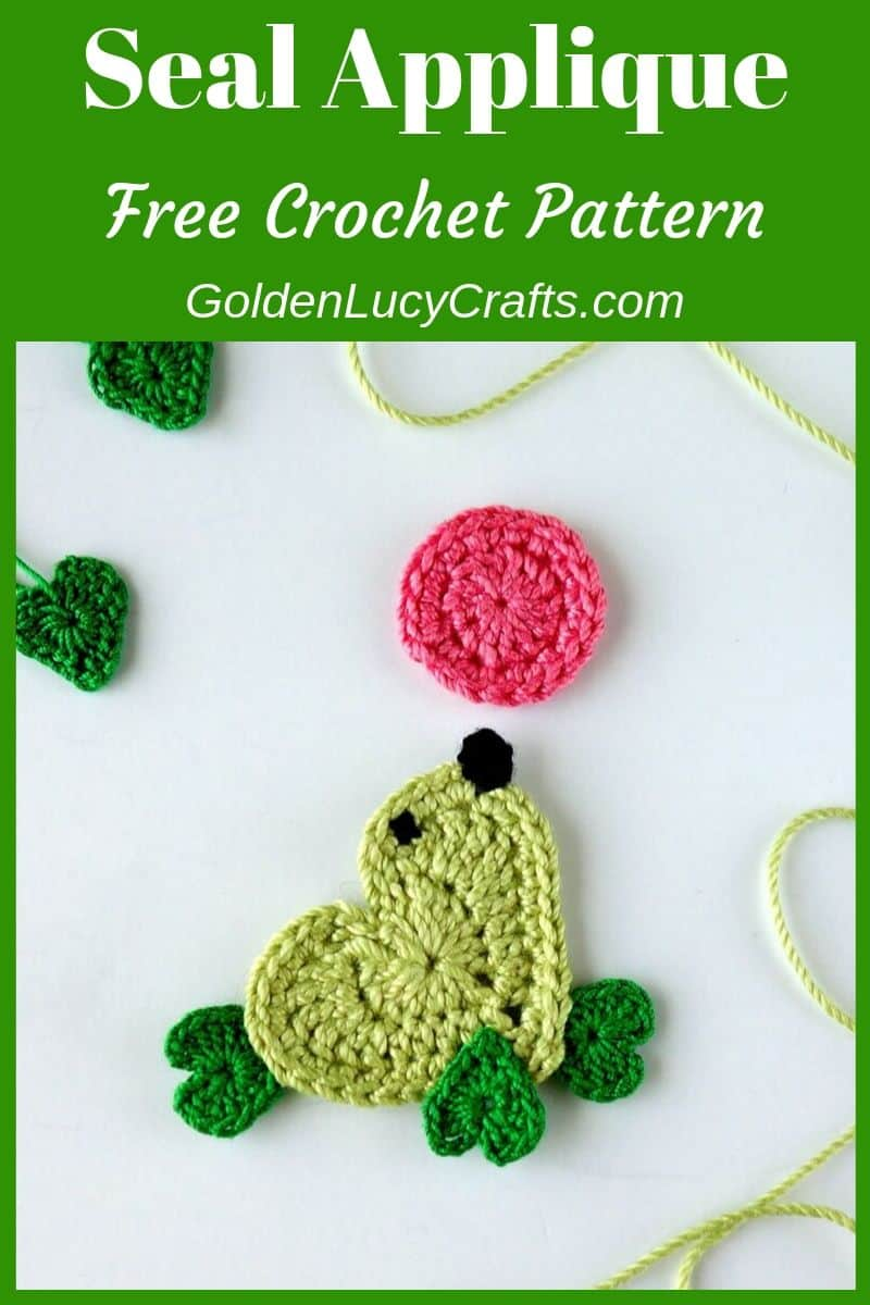 Crochet seal applique, free crochet pattern