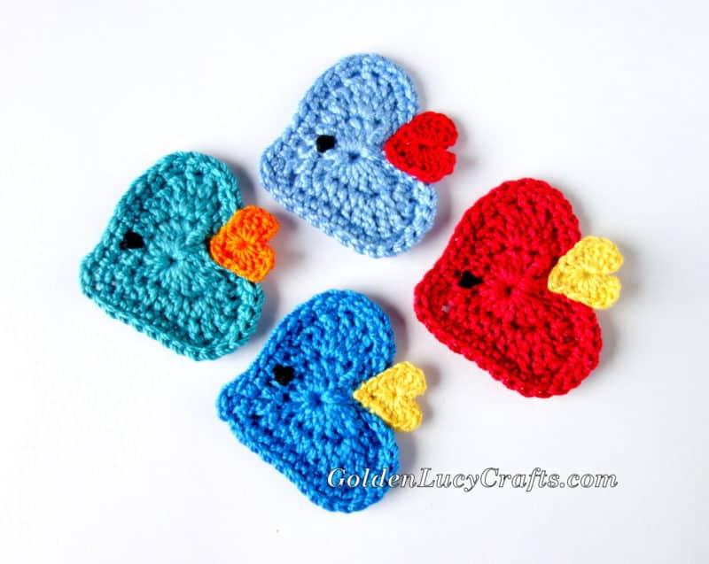 Crochet Fish Applique
