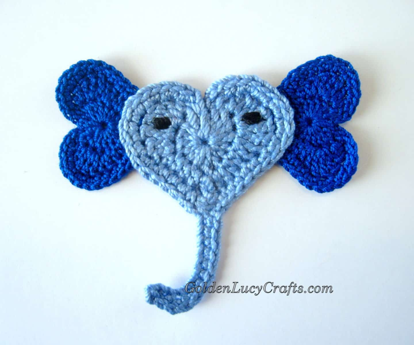 Crochet Elephant Applique