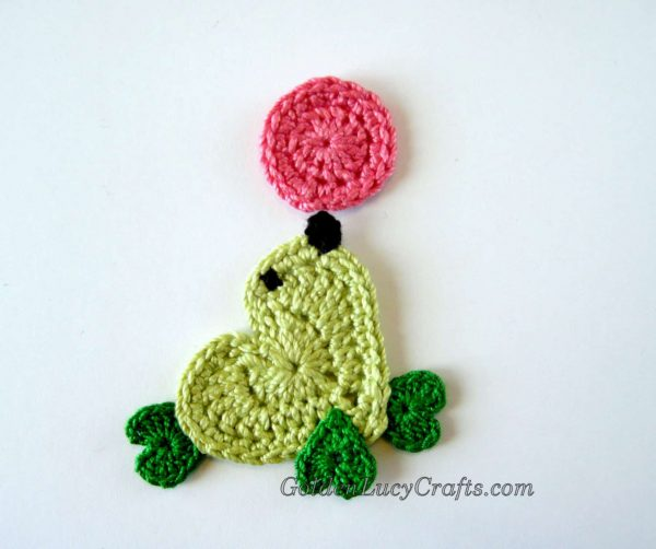 Crochet seal applique