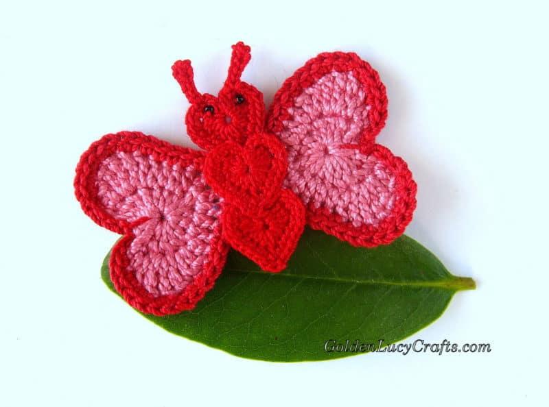 Free Crochet Patterns - Crochet Butterfly Applique