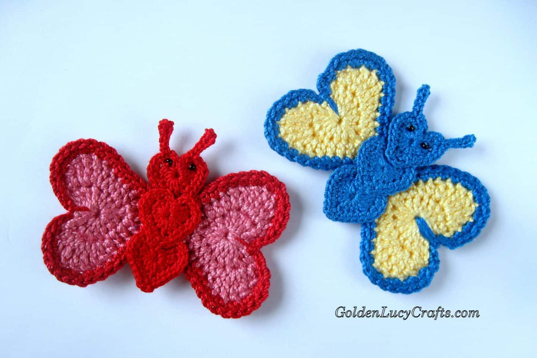 Crochet Butterfly Applique