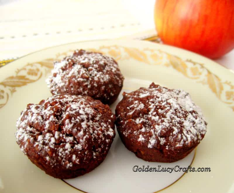 Chocolate Financiers (Mini-muffins), Gluten Free