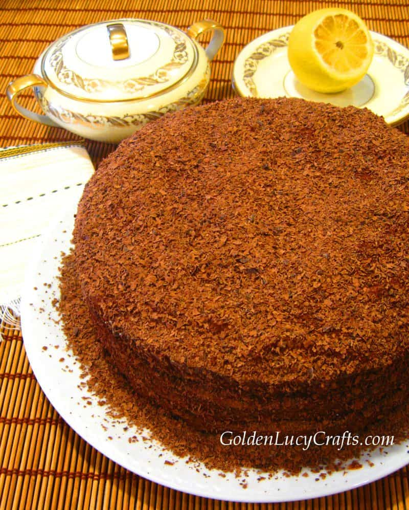 Prague cake recipe , Russian, Ukrainian, Soviet cake