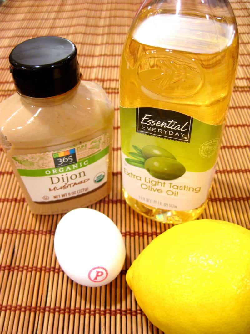 Homemade Mayonnaise - ingredients