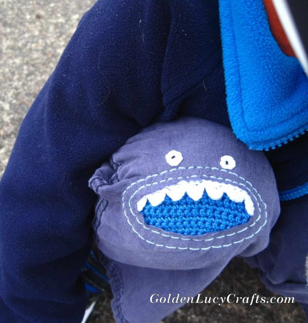 Crochet Monster Knee Patch
