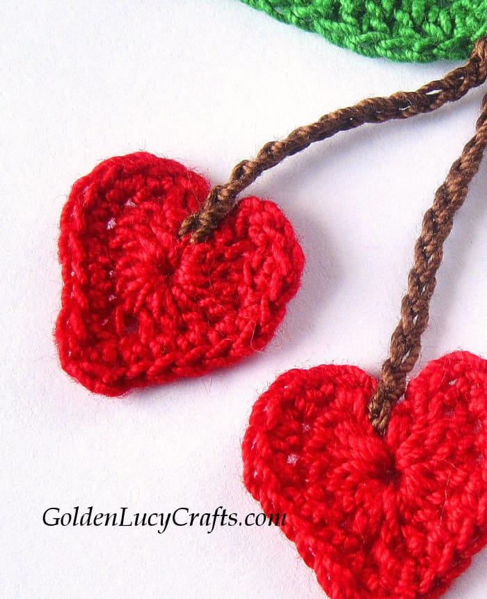 Crochet Cherries applique