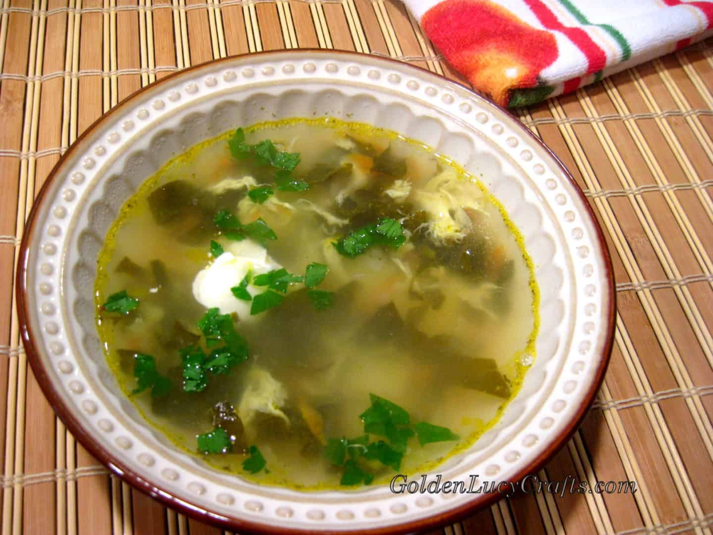 Green Borsch (Sorrel Soup) Vegetarian
