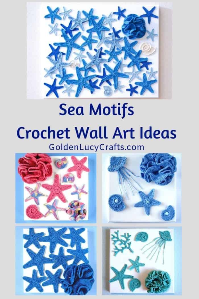 Sea motifs crochet wall art ideas