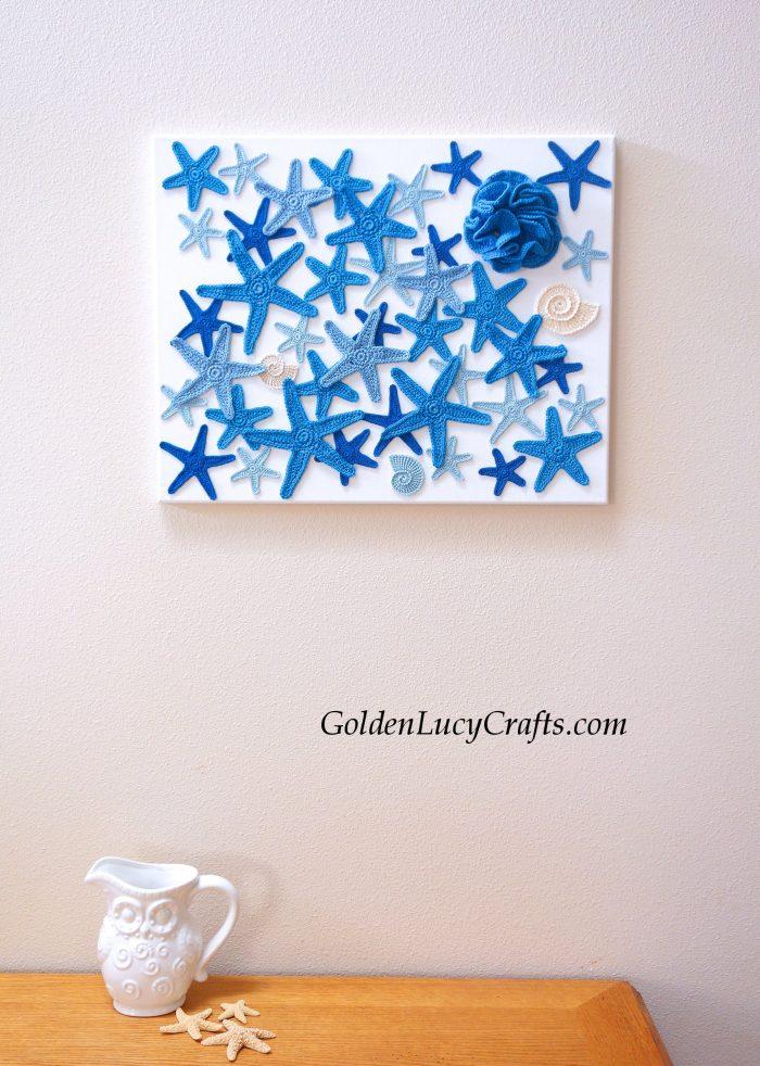 Crochet wall art, wall decor, sea motives, ocean