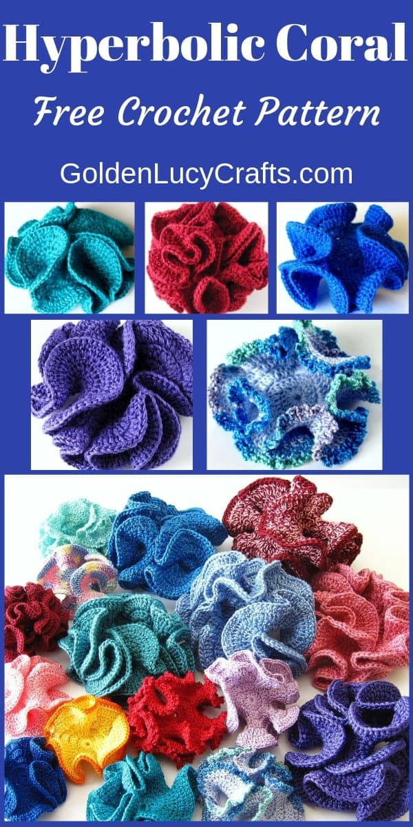 How to crochet hyperbolic coral, free pattern