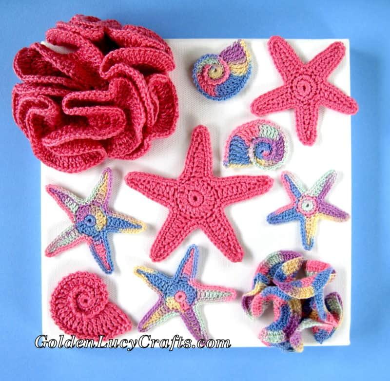 Crochet Wall Art - sea motifs