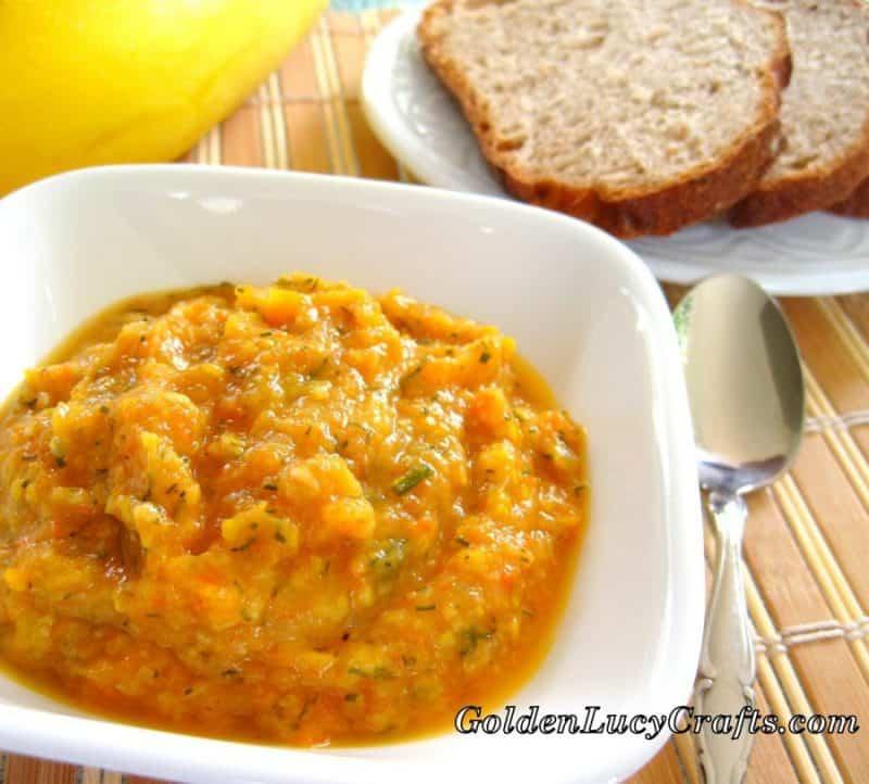 Yellow squash recipe, summer squash recipe, Ukrainian recipe, squash paste, squash caviar