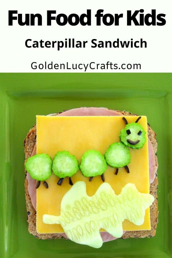 Fun Food for Kids Caterpillar sandwich