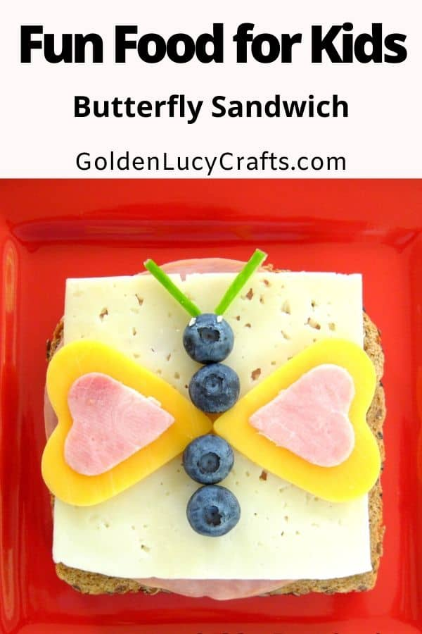 Fun food for kids, fun sandwiches, butterfly sandwich