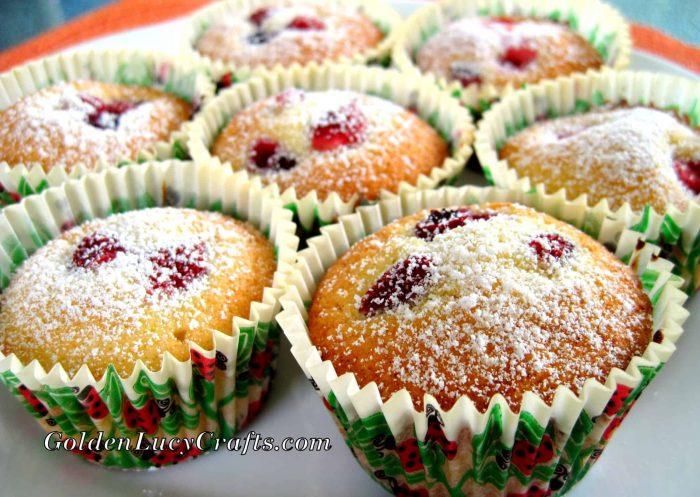 Berry muffins recipe, fresh berries, baking, dessert