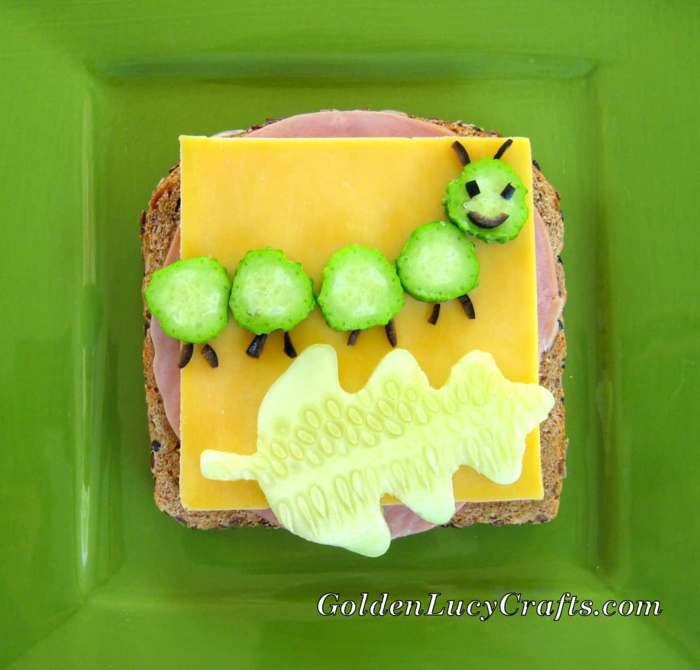 Fun sandwich for kids, Caterpillar Sandwich