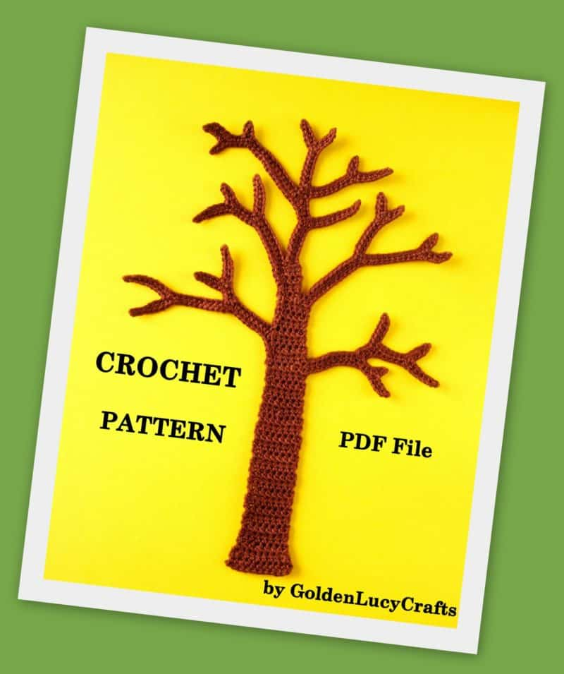 Crochet tree applique