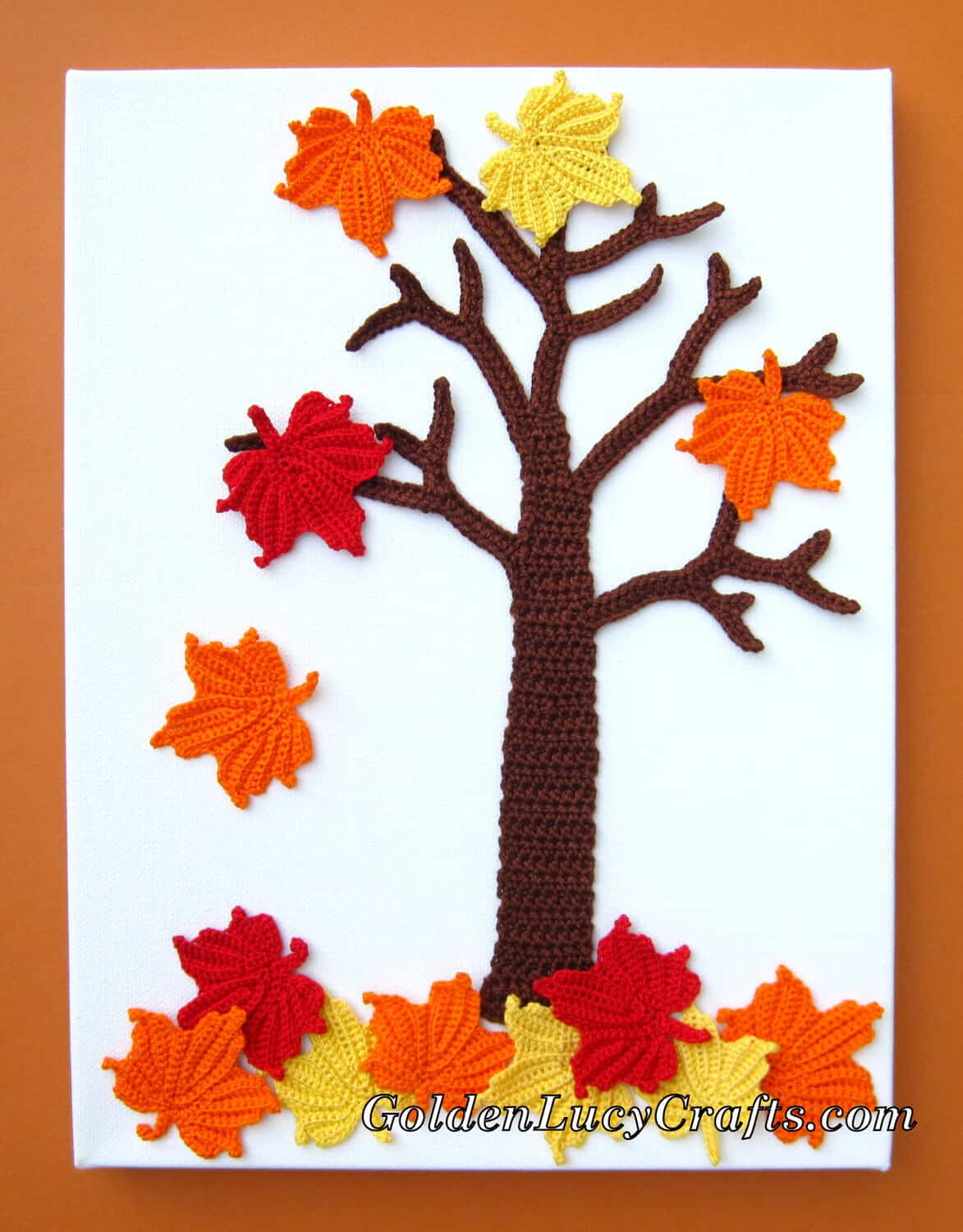 Crochet fall maple tree