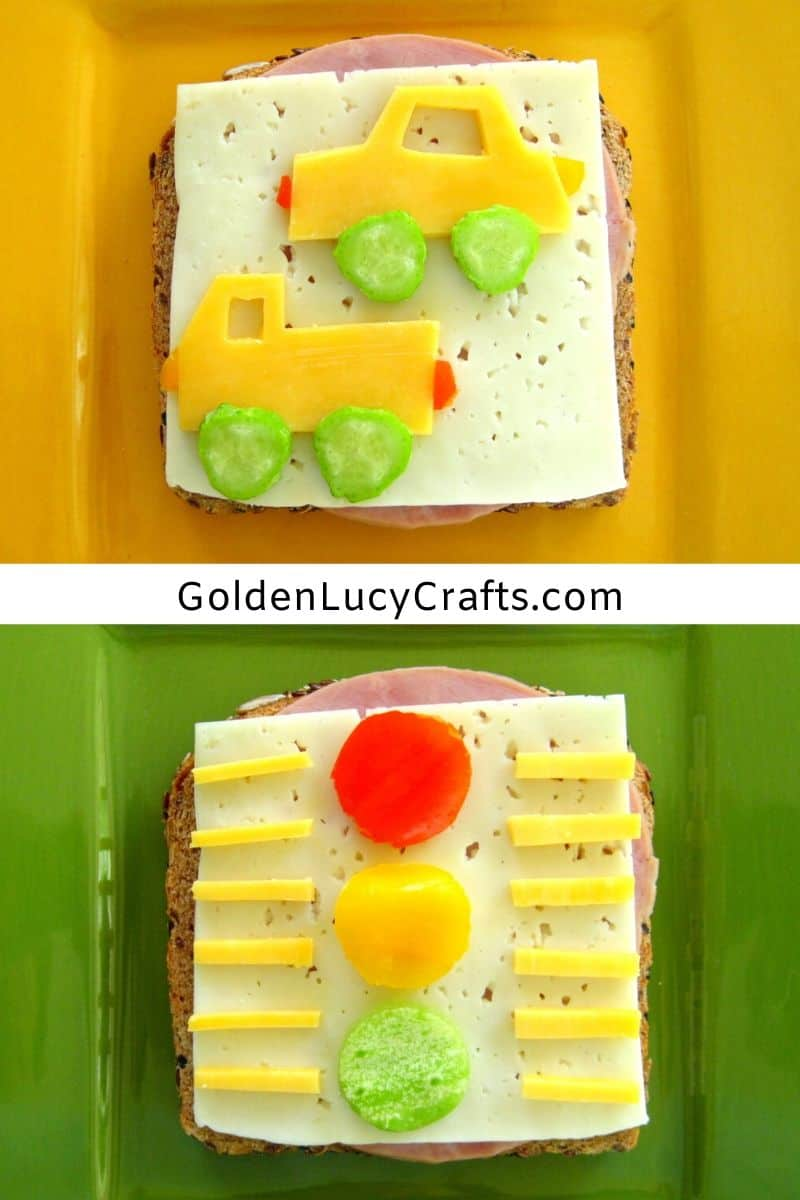 Fun Sandwiches for Kids - Car and Truck Sandwich, Traffic Lights Sandwich