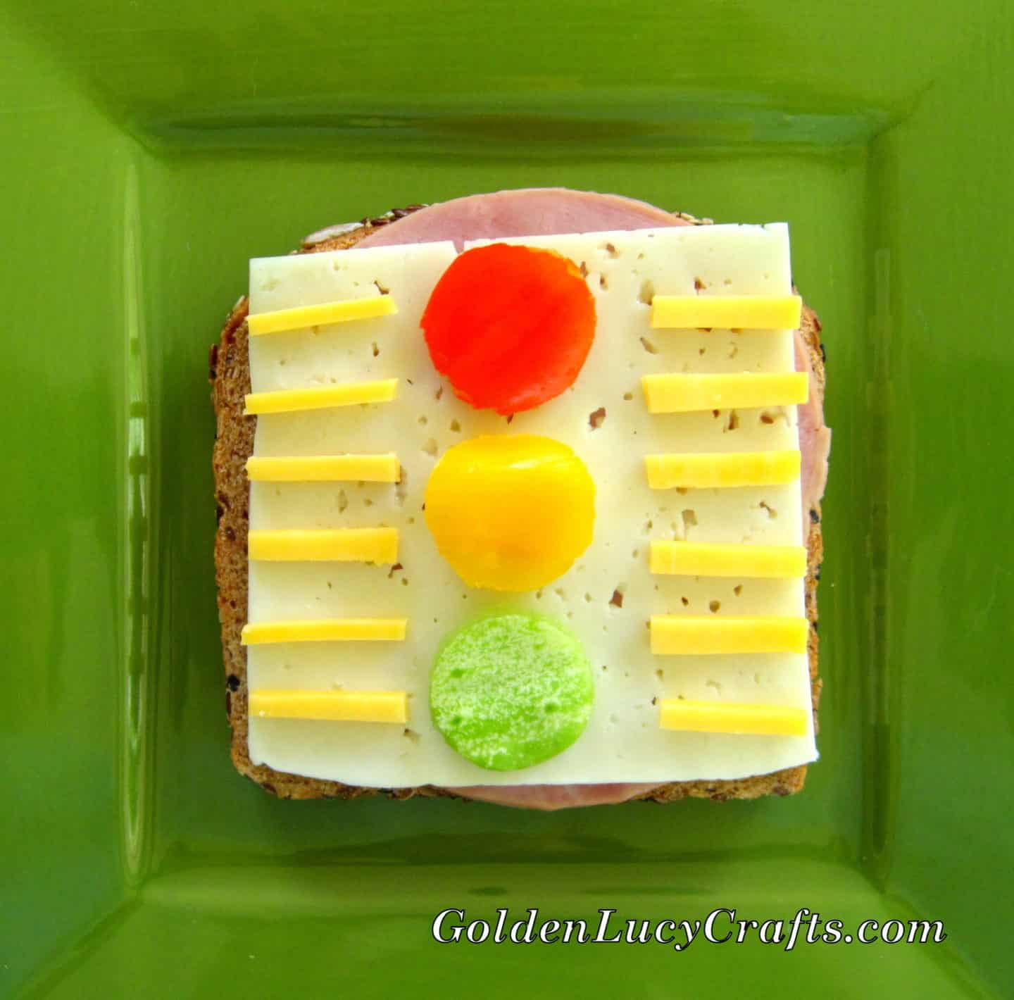 Traffic Lights Sandwich, fun kids food