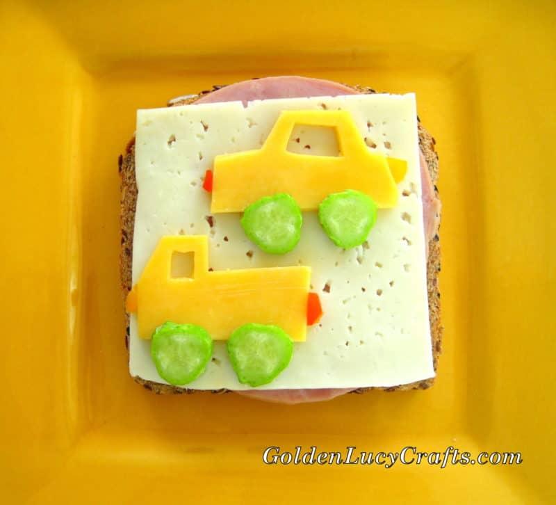 Car and Truck Sandwich, fun food