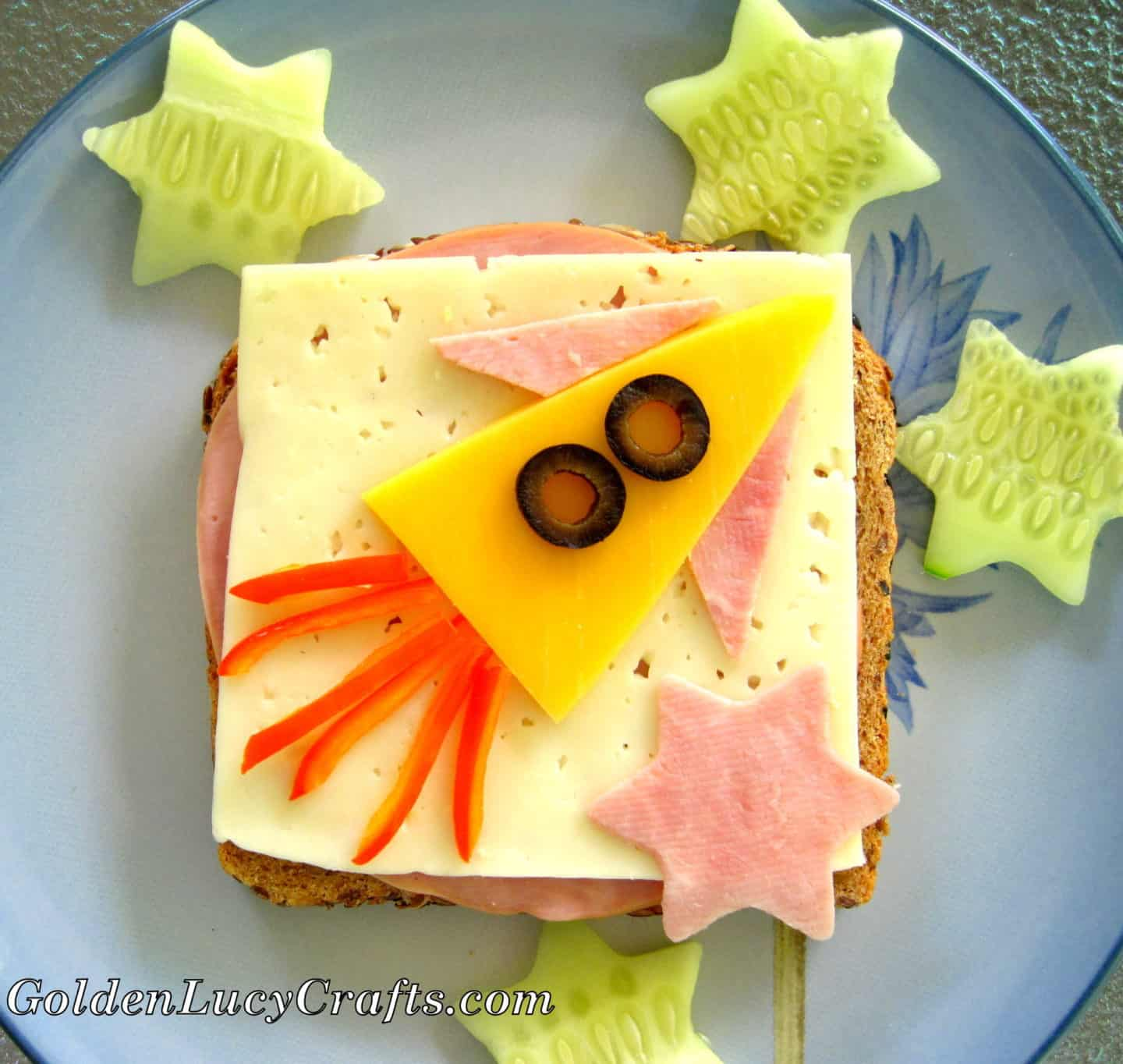 Fun Sandwich, fun food, food art