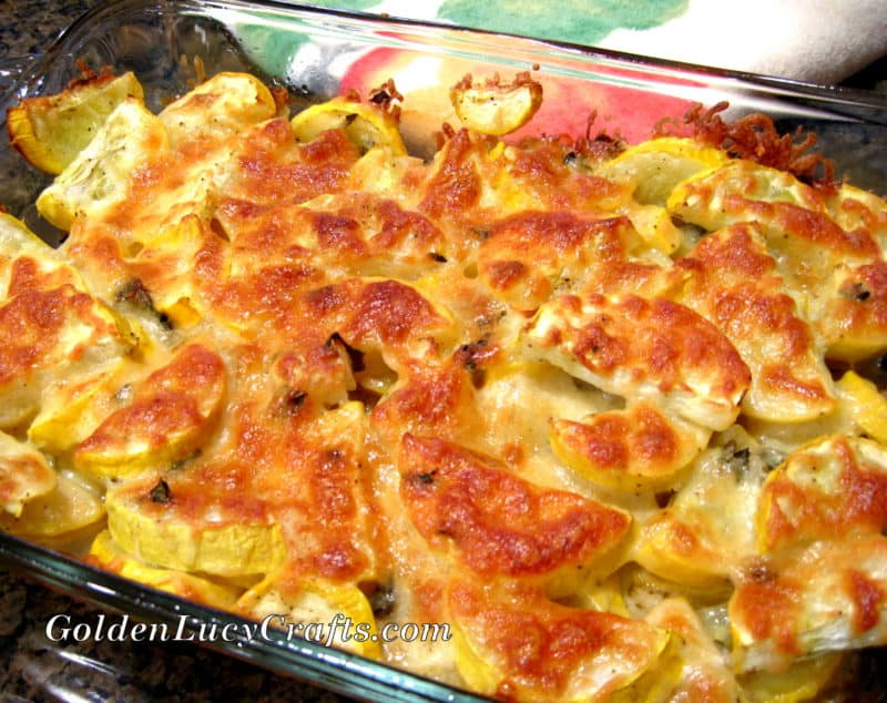 Cheesy Yellow Squash Bake