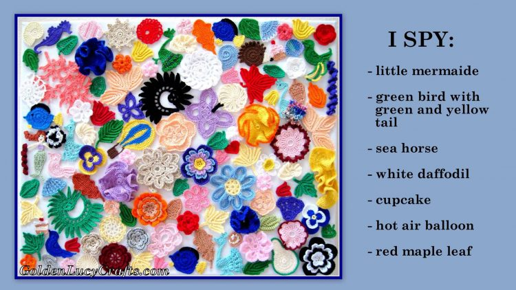 Crochet wall art idea