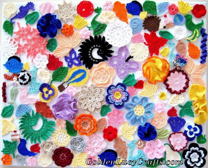 Crochet wall art, wall decor idea
