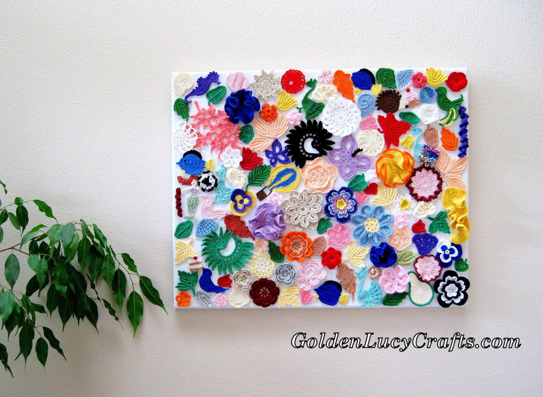 Crochet wall hanging wall decoration wall art craft idea crochet wall hanging amipublicfo Images