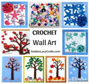 Crochet wall art