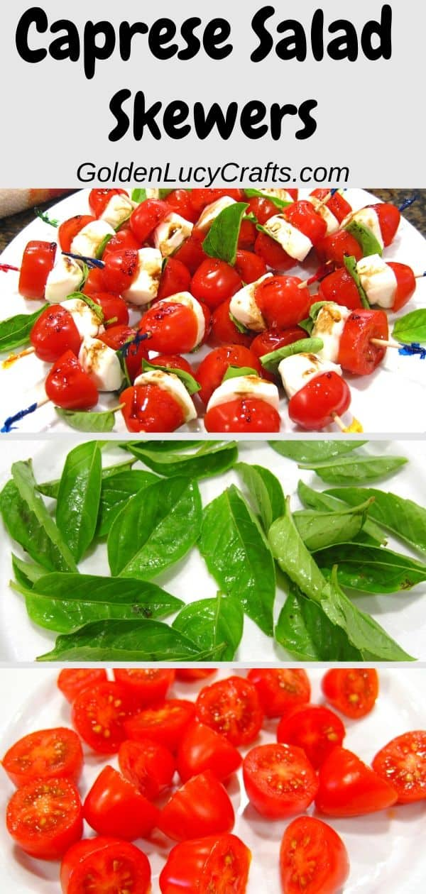 Caprese skewers, salad, appetizer, recipe