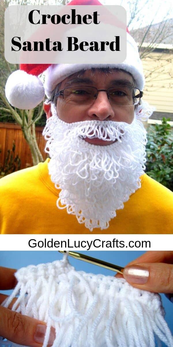 Crochet Santa Beard, free pattern