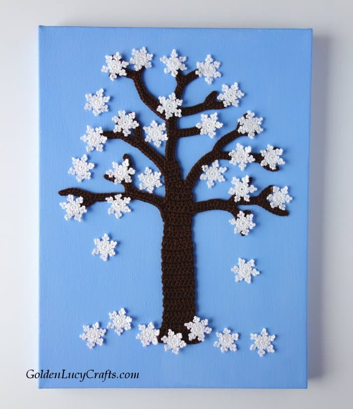 Crochet wall art Winter