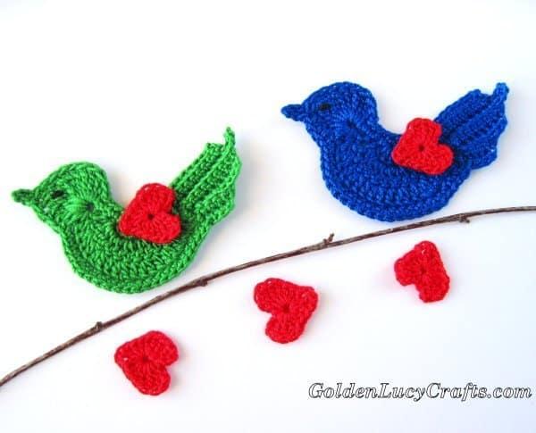 Crochet Love bird, Valentine's Day crochet