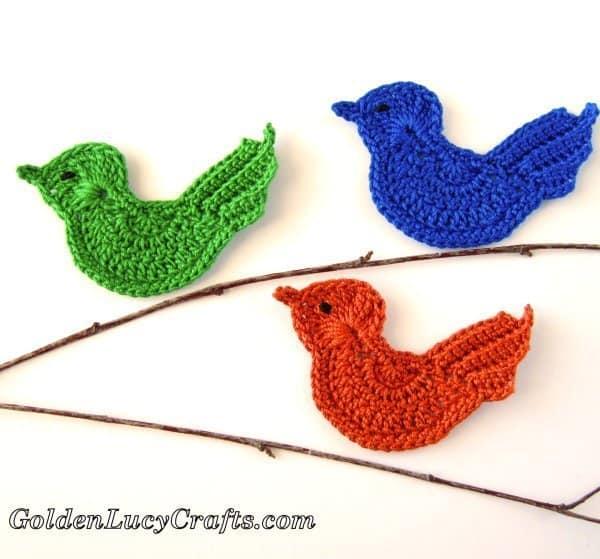 27 Free Crochet Bird Patterns You'll Love ⋆ DIY Crafts | 559x600