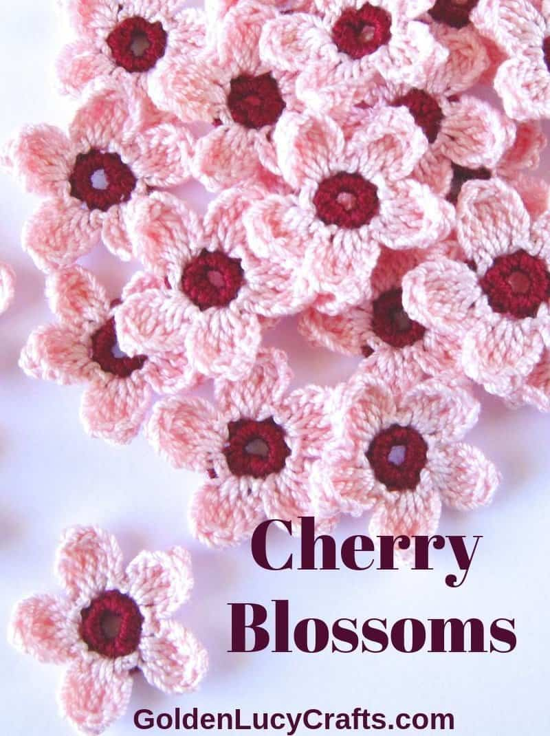 Crochet cherry blossoms free pattern