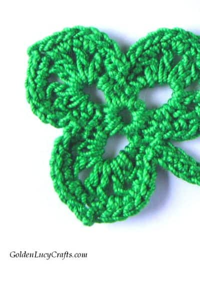 Crochet shamrock free pattern, St Patrick's Day crochet