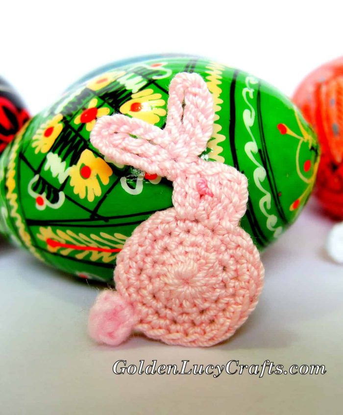 Easter Bunny applique, free crochet pattern
