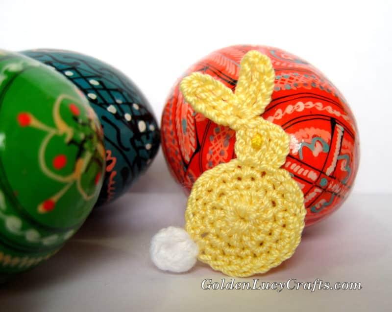 Easter Bunny Appliqué Crochet Pattern