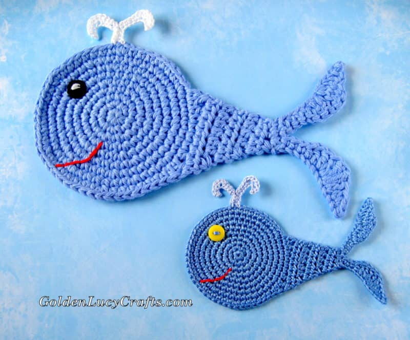The Whale - Appliqué and Coaster Crochet Pattern
