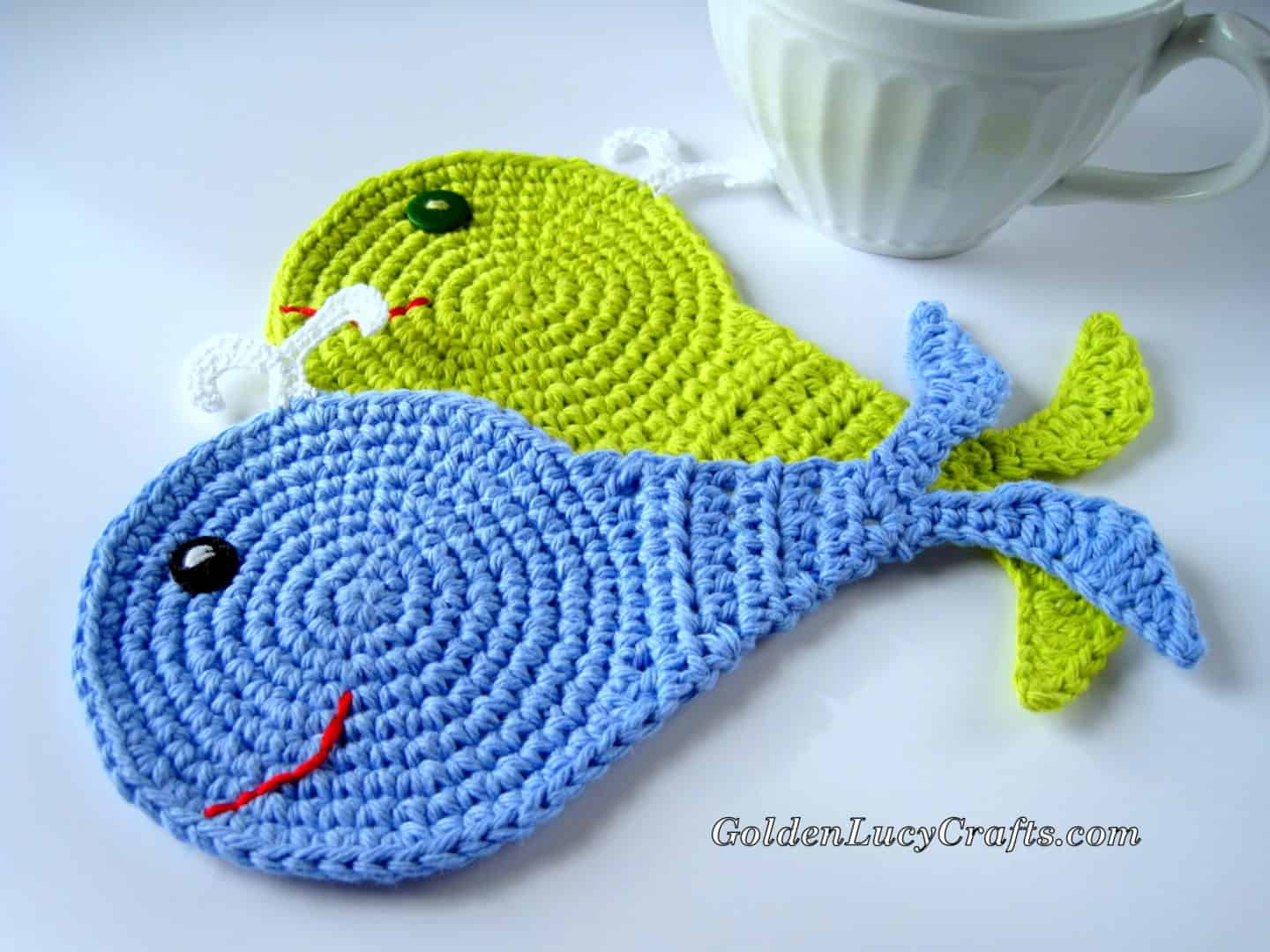 The Whale – Appliqué and Coaster Crochet Pattern
