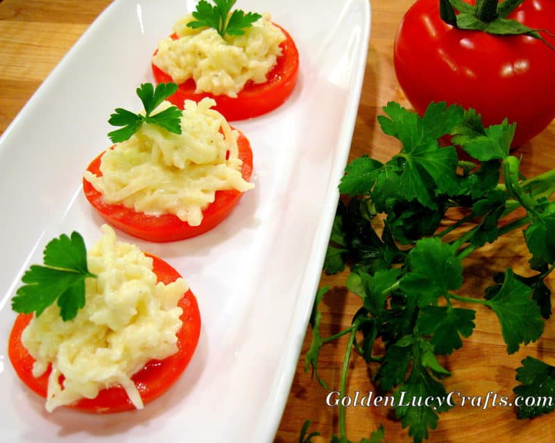 Tomato, Cheese and Garlic Appetizer
