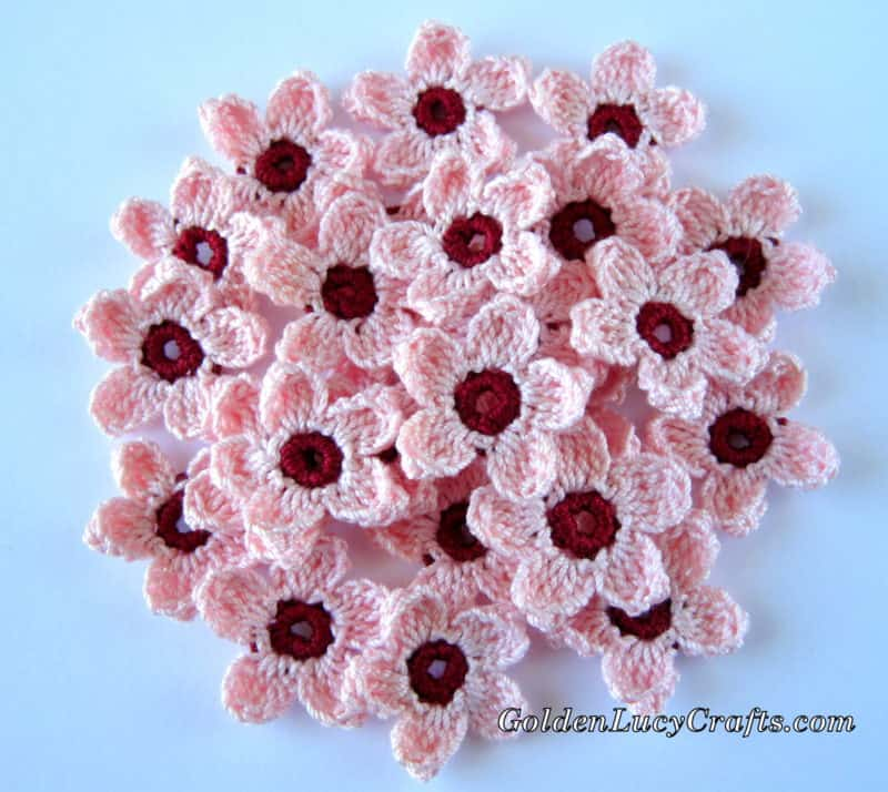 Cherry Blossoms Crochet Pattern Goldenlucycrafts