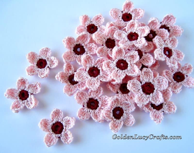 Crochet Free Pattern Cherry Blossoms