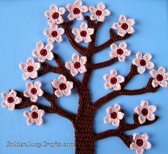 Spring crochet wall art, wall decor